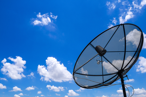 http://www.dreamstime.com/stock-photo-satellite-clear-blue-sky-dish-black-dish-mounted-rooftop-against-image30797690